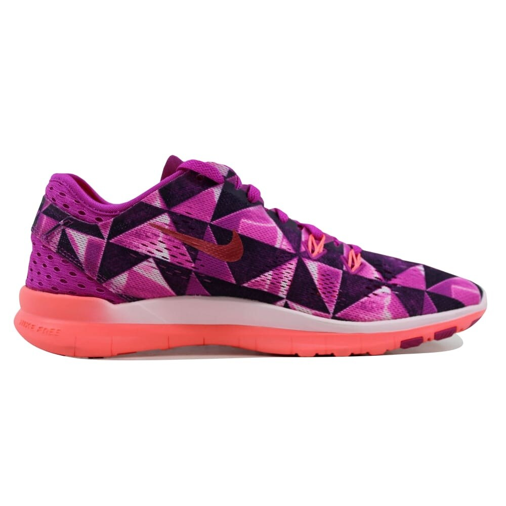 new styles f85d9 265ac Shop Nike Womens Free 5.0 TR FIT 5 PRT Fuchsia FlashHot Lava-Fuchsia  Glow-White Size 6.5 - Free Shipping Today - Overstock.com - 21893566