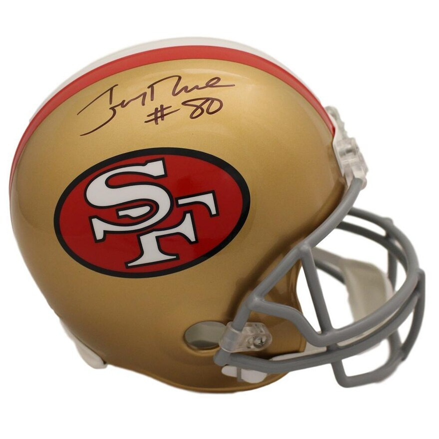 7bb9729f7 Shop Jerry Rice Autographed San Francisco 49ers Replica Helmet BAS - Free  Shipping Today - Overstock - 27279244