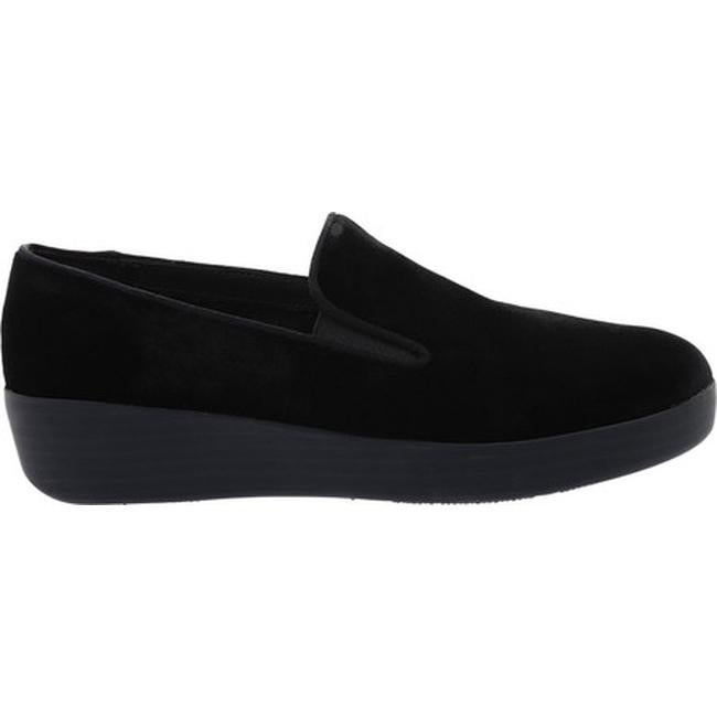 f4c0d0b44f58 Shop FitFlop Women s Superskate Loafer Black Velvet - Free Shipping Today -  Overstock - 21153033