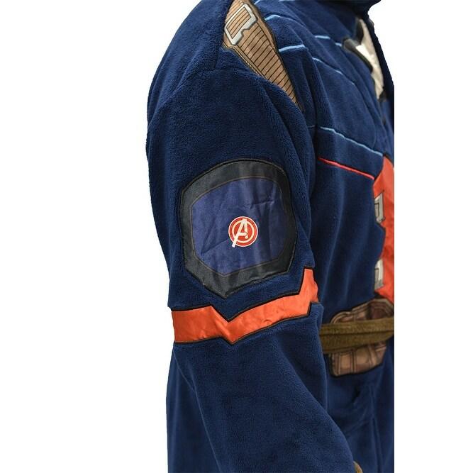 Shop Marvel Universe Captain America Civil War Mens Fleece Costume Robe -  Free Shipping On Orders Over  45 - Overstock - 15893388 6803e8e48