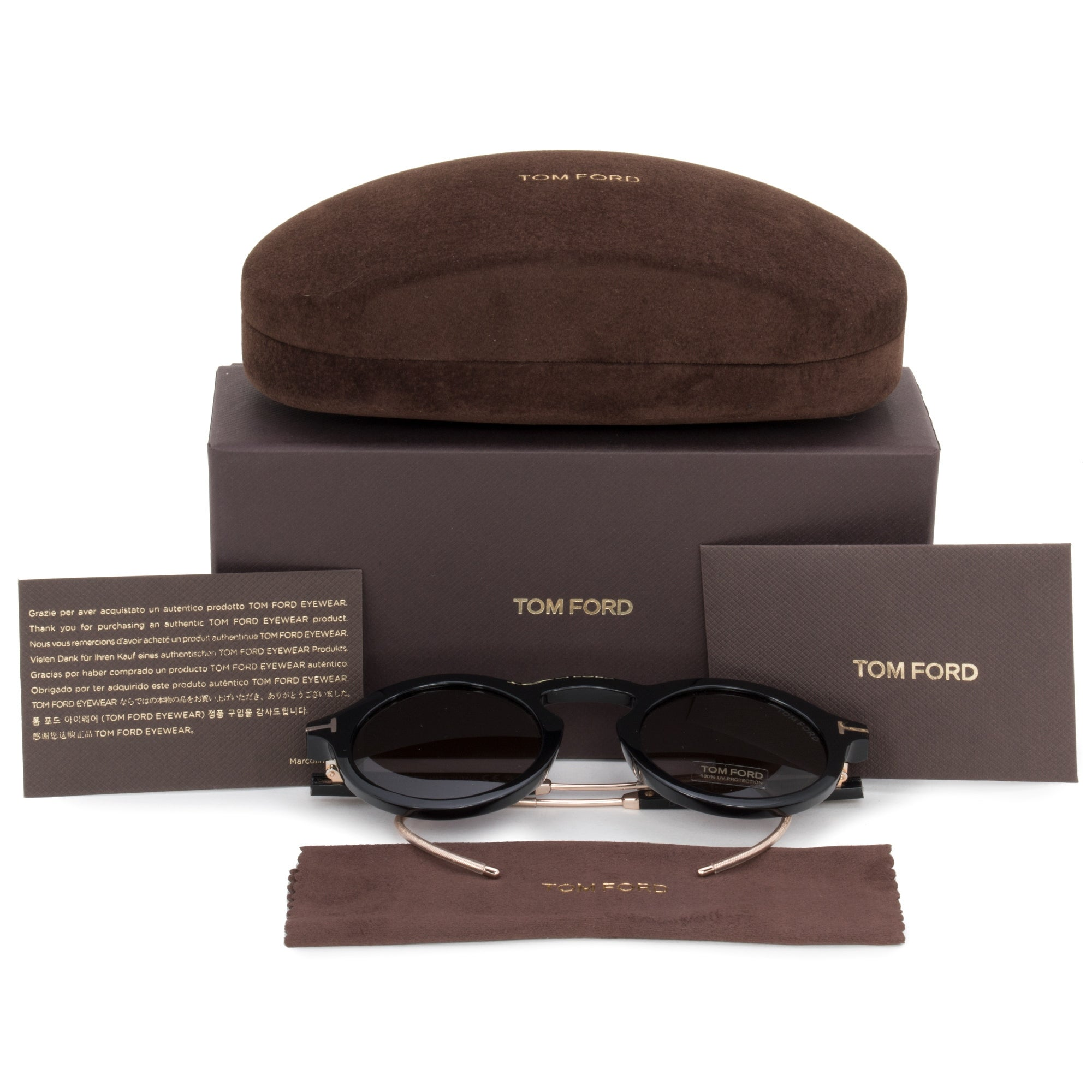 a7520aa56d2a Shop Tom Ford Grant-02 Oval Sunglasses FT0632 01A 48 - Free Shipping Today  - Overstock - 23138900