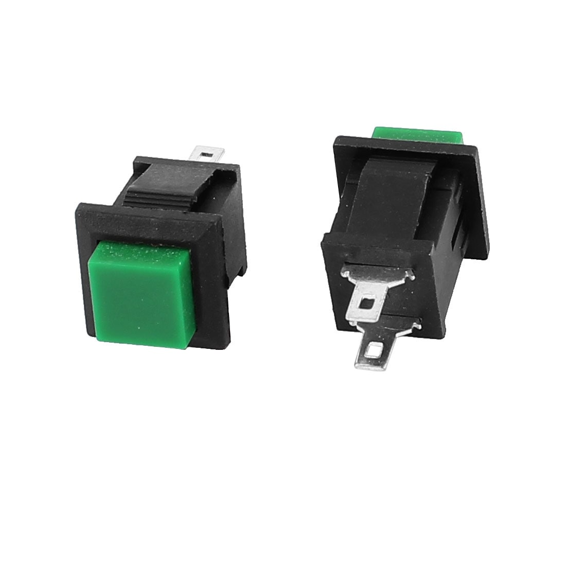 Shop 10pcs Ac 250v 1a 2 Terminals Nc Spst Momentary Square Push Of Switches Should Only Require Two Button Switch Green Free Shipping On Orders Over 45 18254848