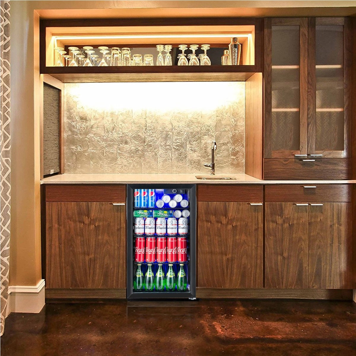 Shop Gymax 120 Can Beverage Refrigerator Beer Wine Soda Drink Cooler Mini Fridge  Glass Door   As Pic   Free Shipping Today   Overstock.com   20372013