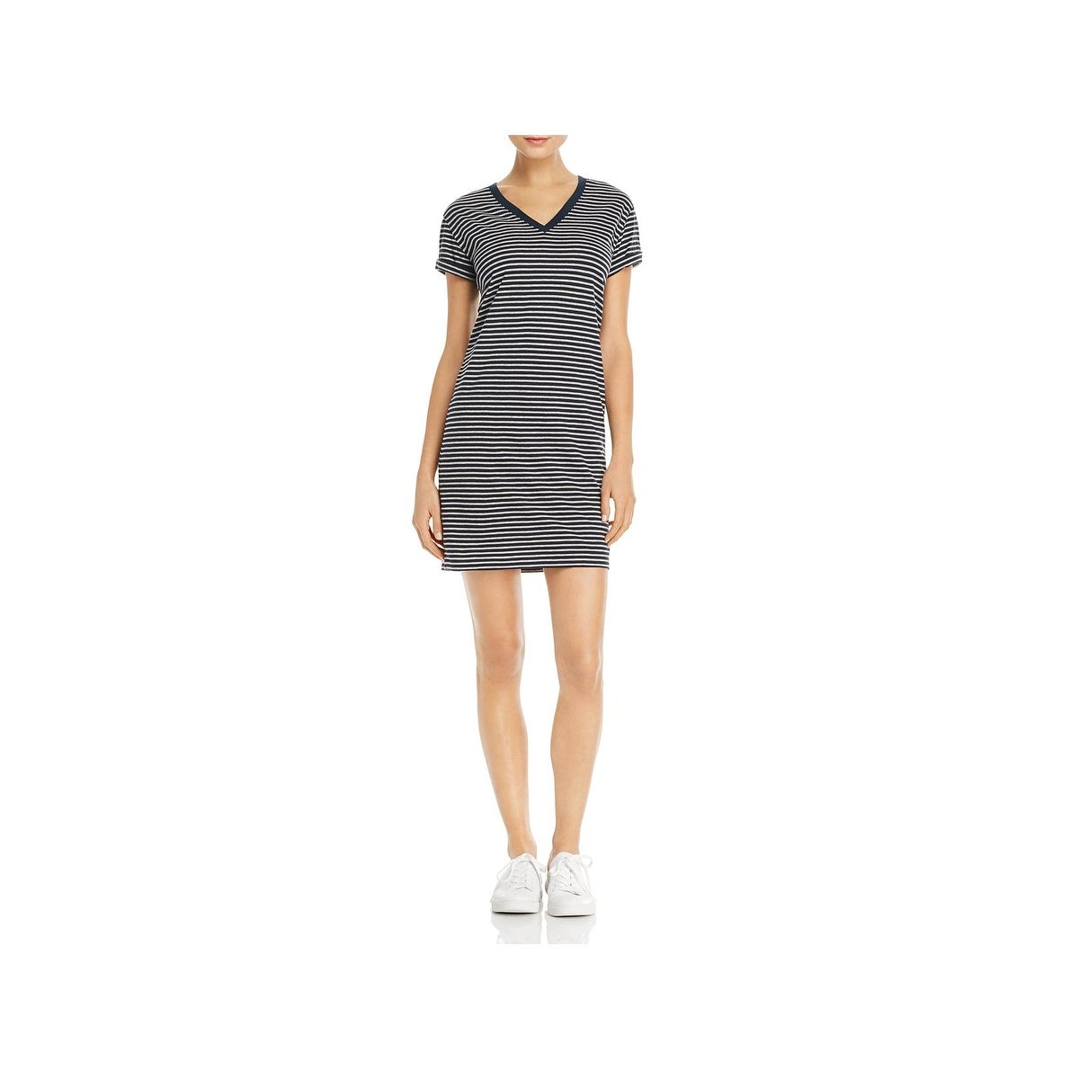 Shop T By Alexander Wang Womens T Shirt Dress Striped V Neck Free
