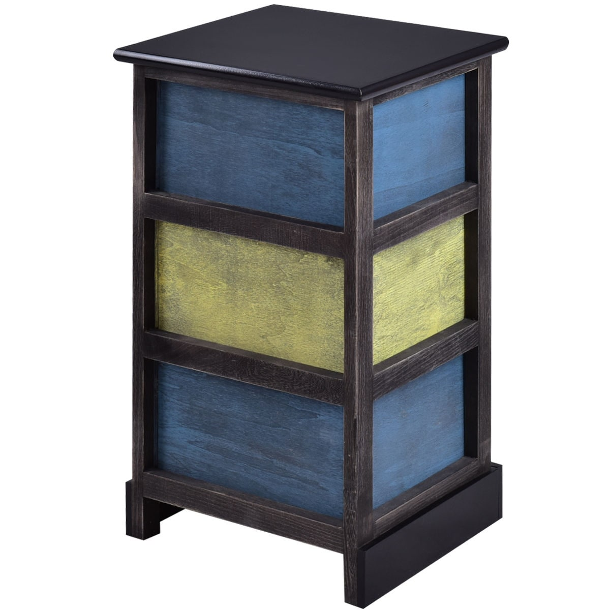 Shop costway stylish wood bedside table nightstand cabinet furniture shop costway stylish wood bedside table nightstand cabinet furniture 3 storage drawer free shipping today overstock 18225417 watchthetrailerfo