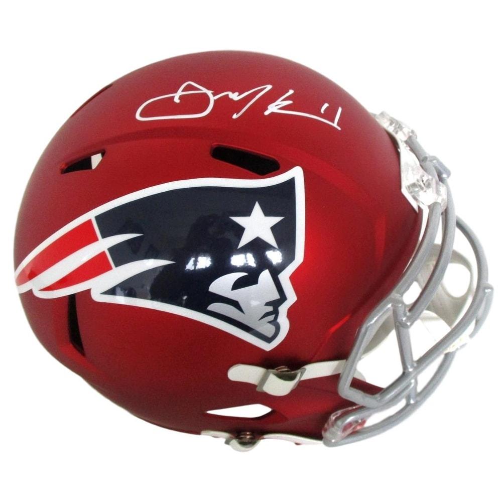 Shop Julian Edelman Signed New England Patriots FS Blaze Speed Replica  Helmet JSA - Ships To Canada - Overstock.ca - 17955907 d846bc3f7