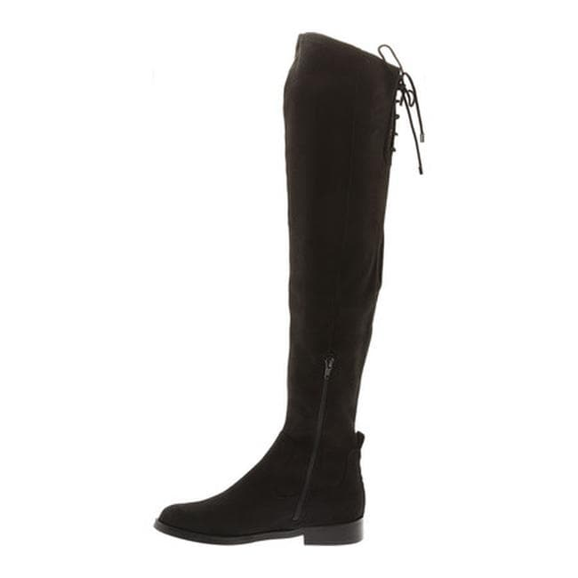 bc453e8b828 Shop Kenneth Cole Reaction Women s Wind Chime Over The Knee Boot Black  Microsuede - Free Shipping Today - Overstock - 18950749