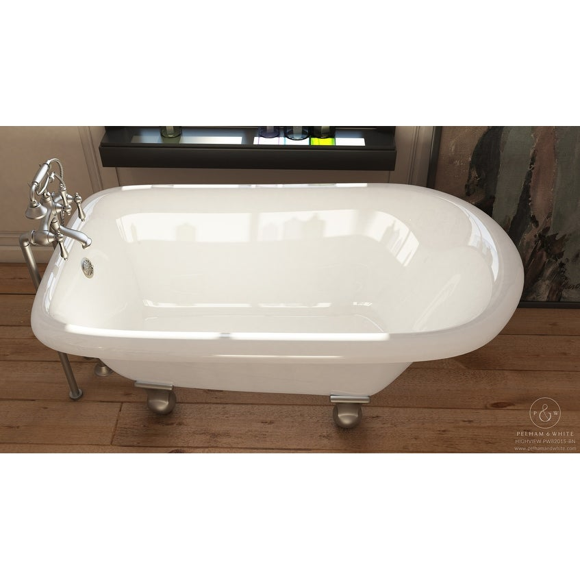 Shop Pelham & White Luxury 54 Inch Clawfoot Tub with Nickel ...