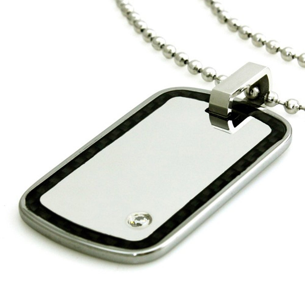 dog triton designers tw accents pvd carbide and fancybox tag pendant gray diamond chain tungsten with inch