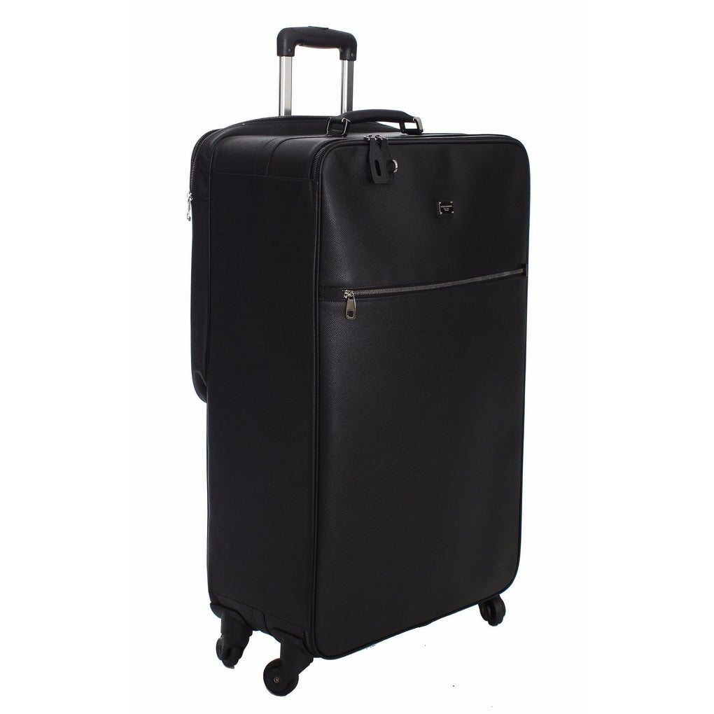 bc0b5e8bc822 Shop Dolce   Gabbana Luggage Bag Black Leather Travel Suitcase Trolley -  One size - Free Shipping Today - Overstock - 16714973