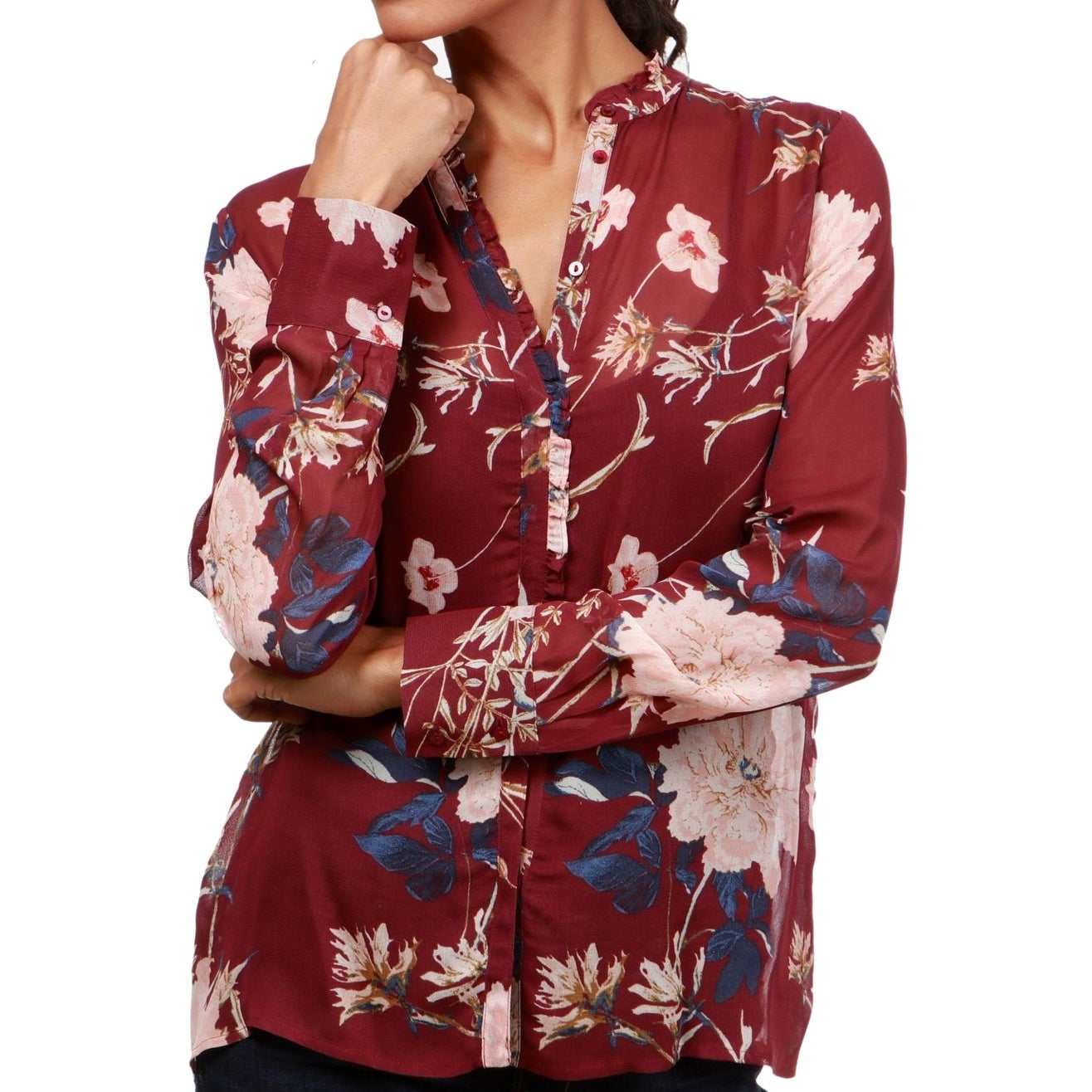 6a93d651 Sheer Button Down Shirt Dress - DREAMWORKS