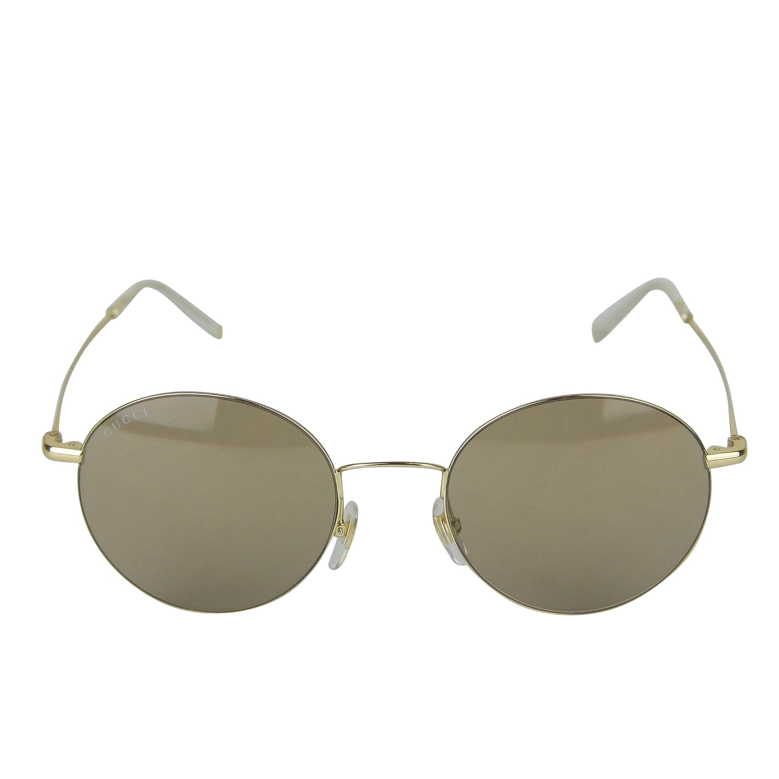 ef79218e4fb Shop Gucci Unisex Round Gold Metal Sunglasses With Logo GG 4273 S 3YGMI  391327 8903 - One size - Free Shipping Today - Overstock - 28032039