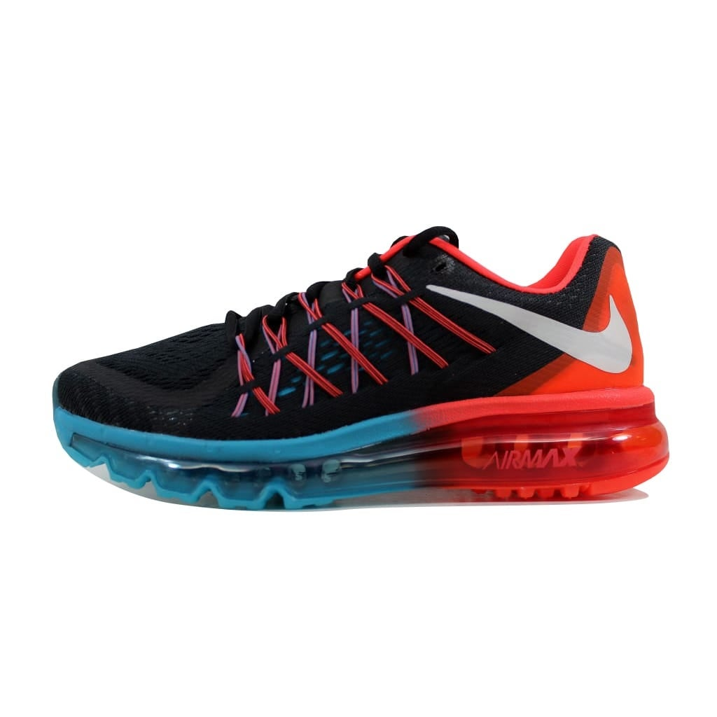 pretty nice cccaf e5cd6 Shop Nike Men s Air Max 2015 Black White-Bright Crimson-Blue Lagoon  698902-006 - Free Shipping Today - Overstock - 22340346