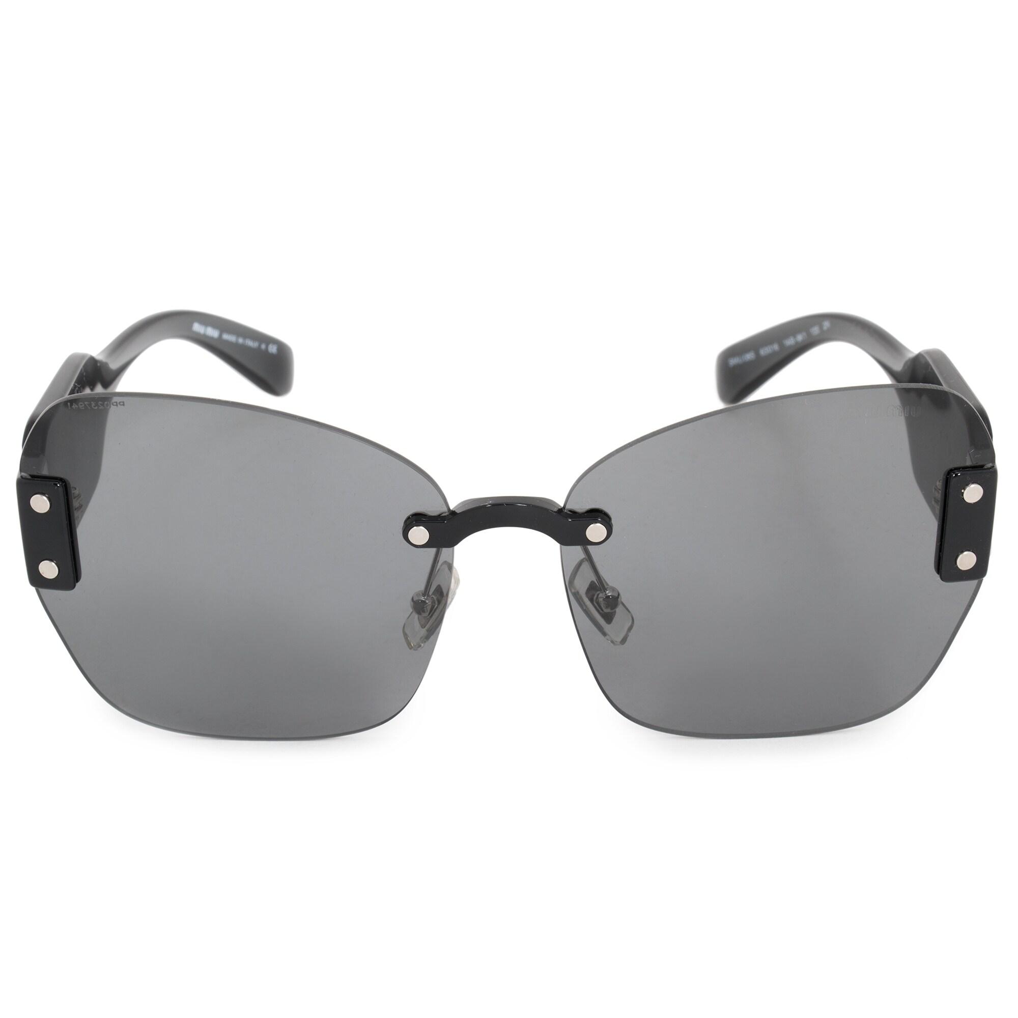 c9edc04f55c Shop Miu Miu Butterfly Sunglasses SMU08SS 1AB9K1 63 - Free Shipping ...
