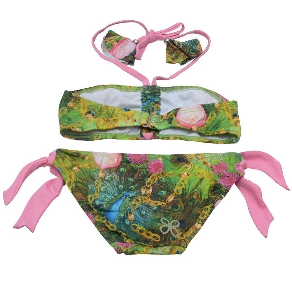 260b5755e2 Shop Planet Sea Little Girls Green Nature Print Knot Tube 2 Pc Swimsuit 4 -  Free Shipping On Orders Over $45 - Overstock.com - 18167070