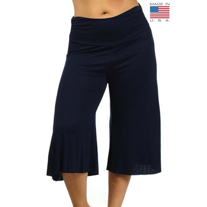 75cbece5f61 Shop Plus Size Women s Gaucho Pants 3 4 Long Palazzo Pants Loose Fit Waist  Band 1XL 2XL 3XL More Colors Available - Free Shipping On Orders Over  45  ...