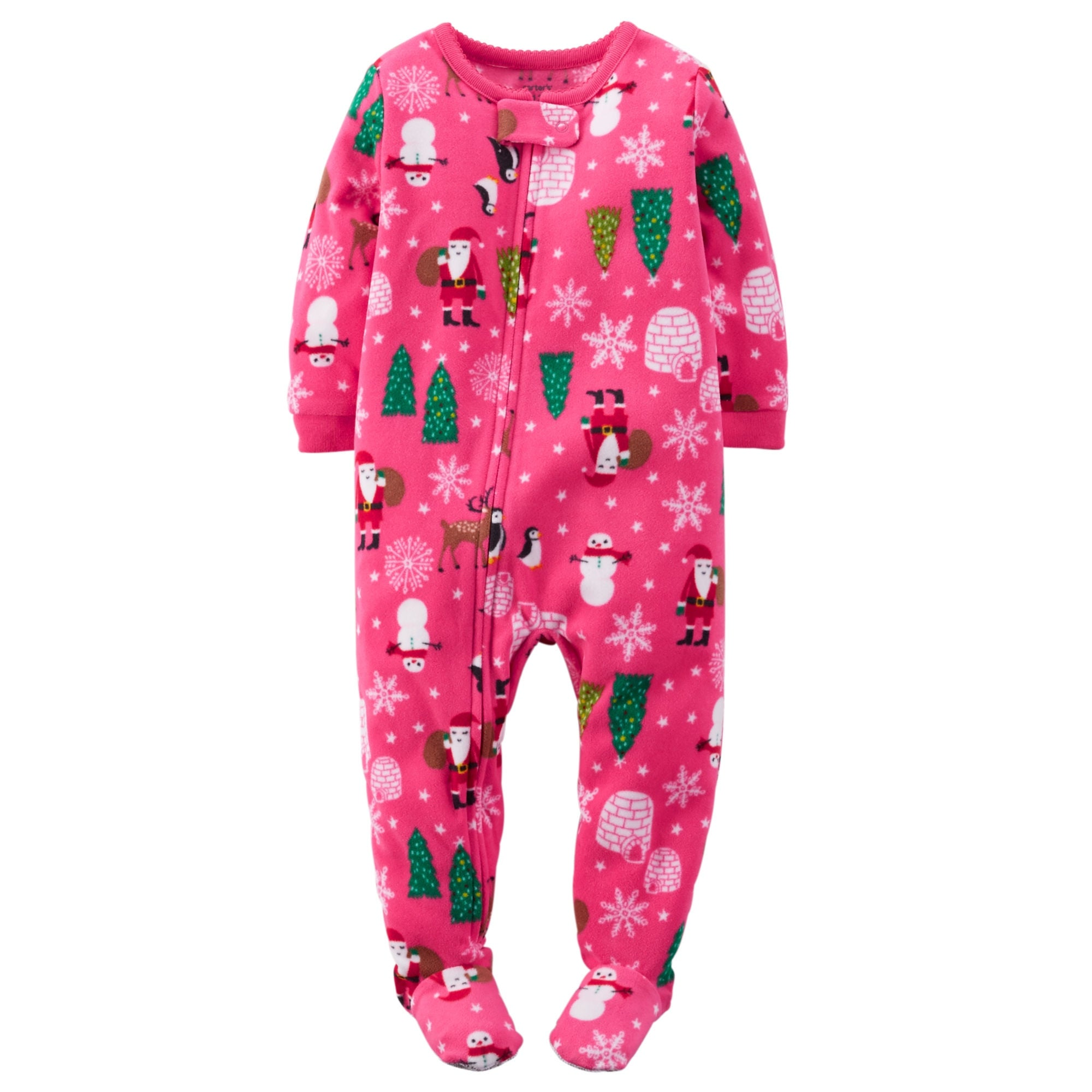 a8de2257fe Shop Carter s Baby Girls  Holiday Microfleece 1 Piece Footed Sleeper Pajamas  - Free Shipping On Orders Over  45 - Overstock.com - 26965881