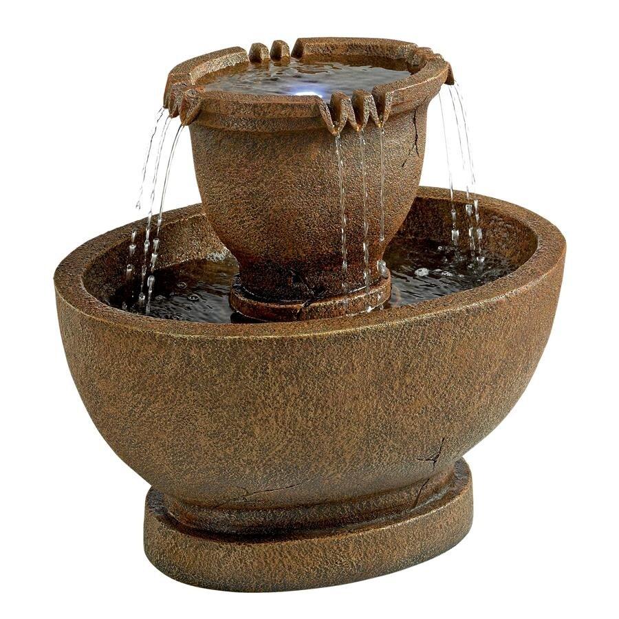 Shop Design Toscano Richardson Oval Urns Cascading Garden Fountain ...