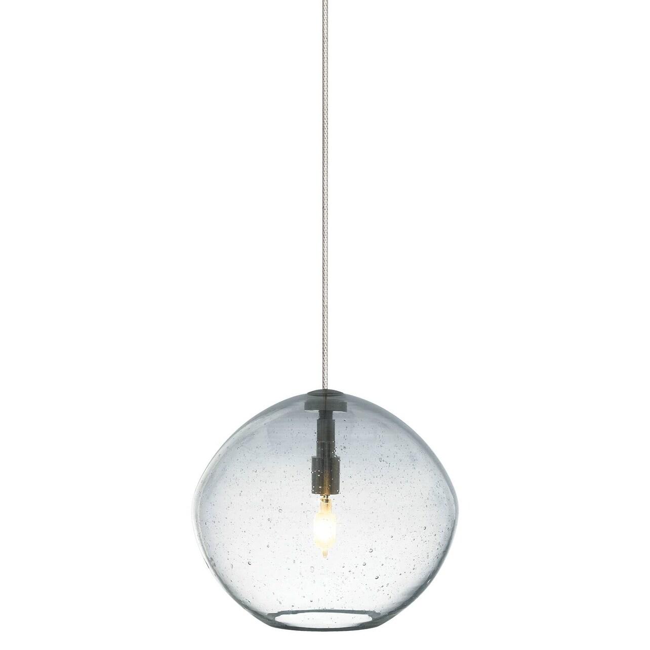 Tech Lighting 700fjislac Mini Isla 1 Light Freejack Pendant With Clear Seeded Gl N A