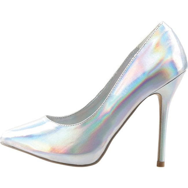 7162550ec046 Shop Pleaser Women s Amuse 20 Silver Hologram Polyurethane - Free Shipping  Today - Overstock - 11132827