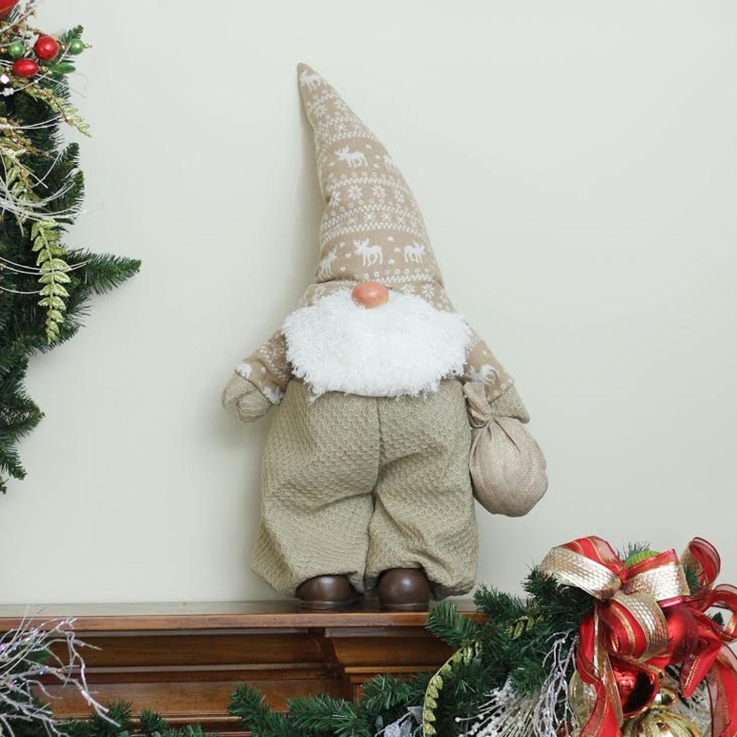 275 beige and white jolly james gnome christmas tabletop decoration free shipping on orders over 45 overstock 22880393