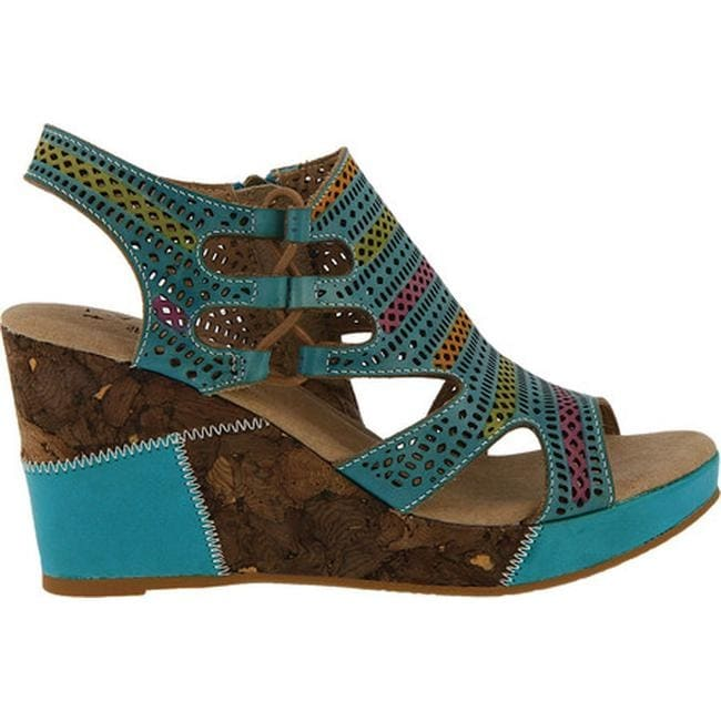 7318db23ee Shop L'Artiste by Spring Step Women's Irvana Wedge Sandal Turquoise ...