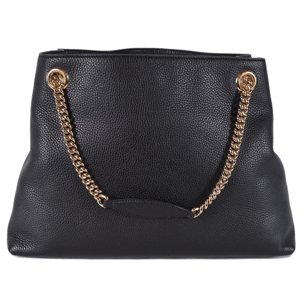 556a1c9a015 Shop Gucci Women s 536196 Black Leather SOHO Chain Strap Purse Handbag Tote  - Free Shipping Today - Overstock - 25576109