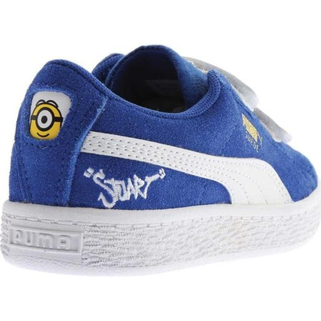 39b4d5455d0 Shop PUMA Children s Minions Suede V PS Sneaker Olympian Blue PUMA White -  Free Shipping On Orders Over  45 - Overstock - 20254453
