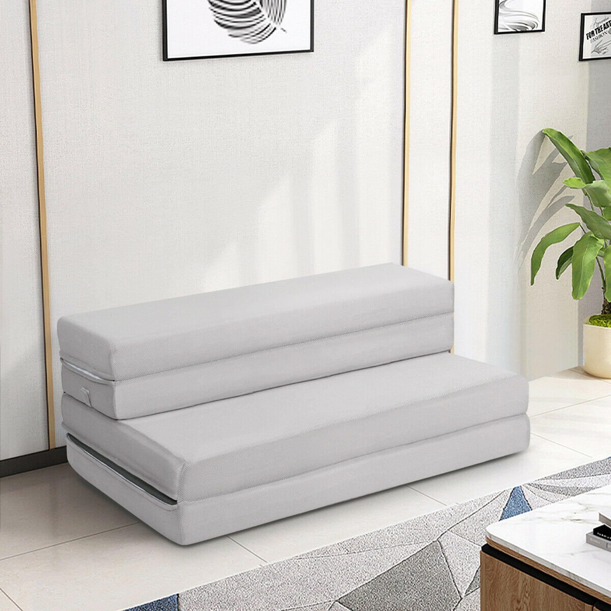 Gymax 4 Twin Xl Size Foam Folding Mattress Sofa Bed Guests Floor Mat On Sale Overstock 23159638