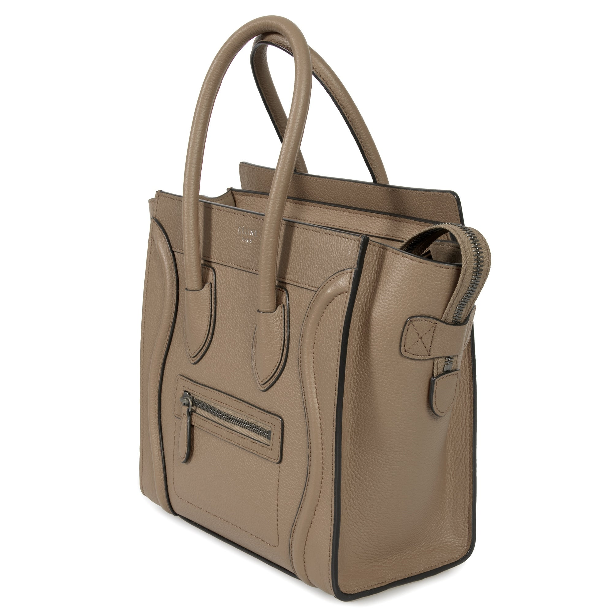 42f5999a496 Shop Celine Micro Luggage Tote Bag in Dune Baby Drummed Calfskin Leather -  Free Shipping Today - Overstock.com - 23085449