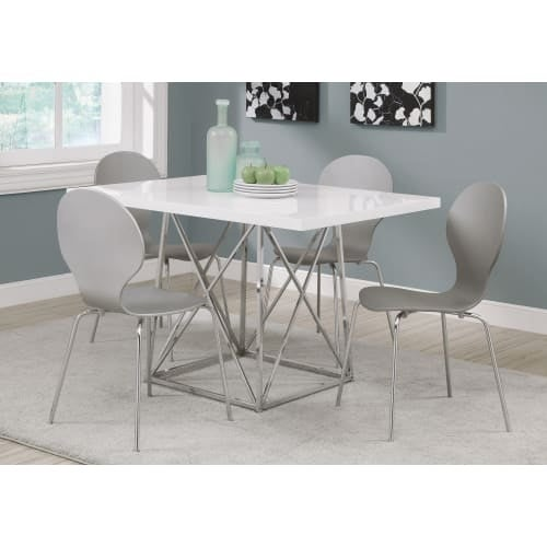 Shop Monarch Specialties I Inch Wide Wood Top Metal Dining - 48 inch wide rectangular dining table