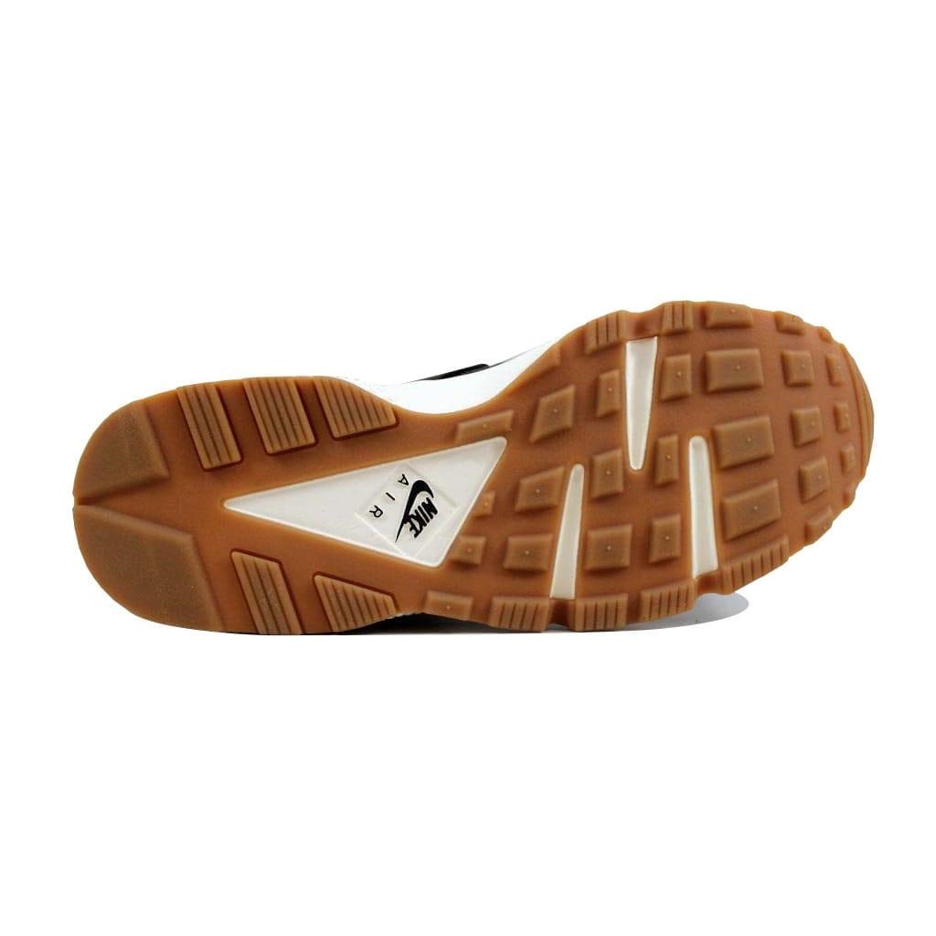 4623e7d8fedf Shop Nike Air Huarache Run Premium Black Black-Sail-Gum Medium Brown 683818- 011 Women s - Free Shipping Today - Overstock - 22531413