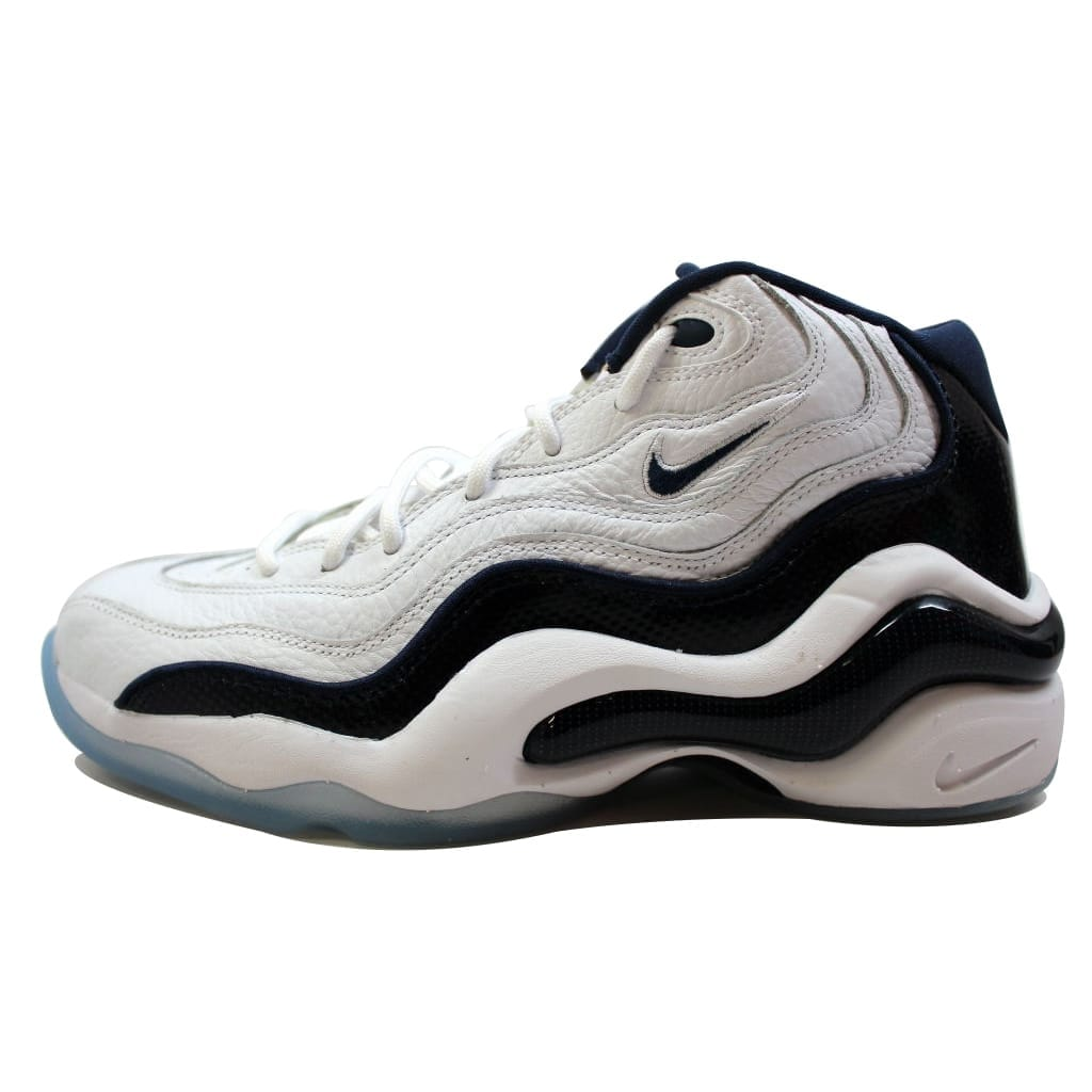 finest selection edc69 d5467 Shop Nike Men s Air Zoom Flight 96 White Midnight Navy-Metallic Gold-White  Olympic Penny Hardaway 884491-103 - Free Shipping Today - Overstock -  20130047