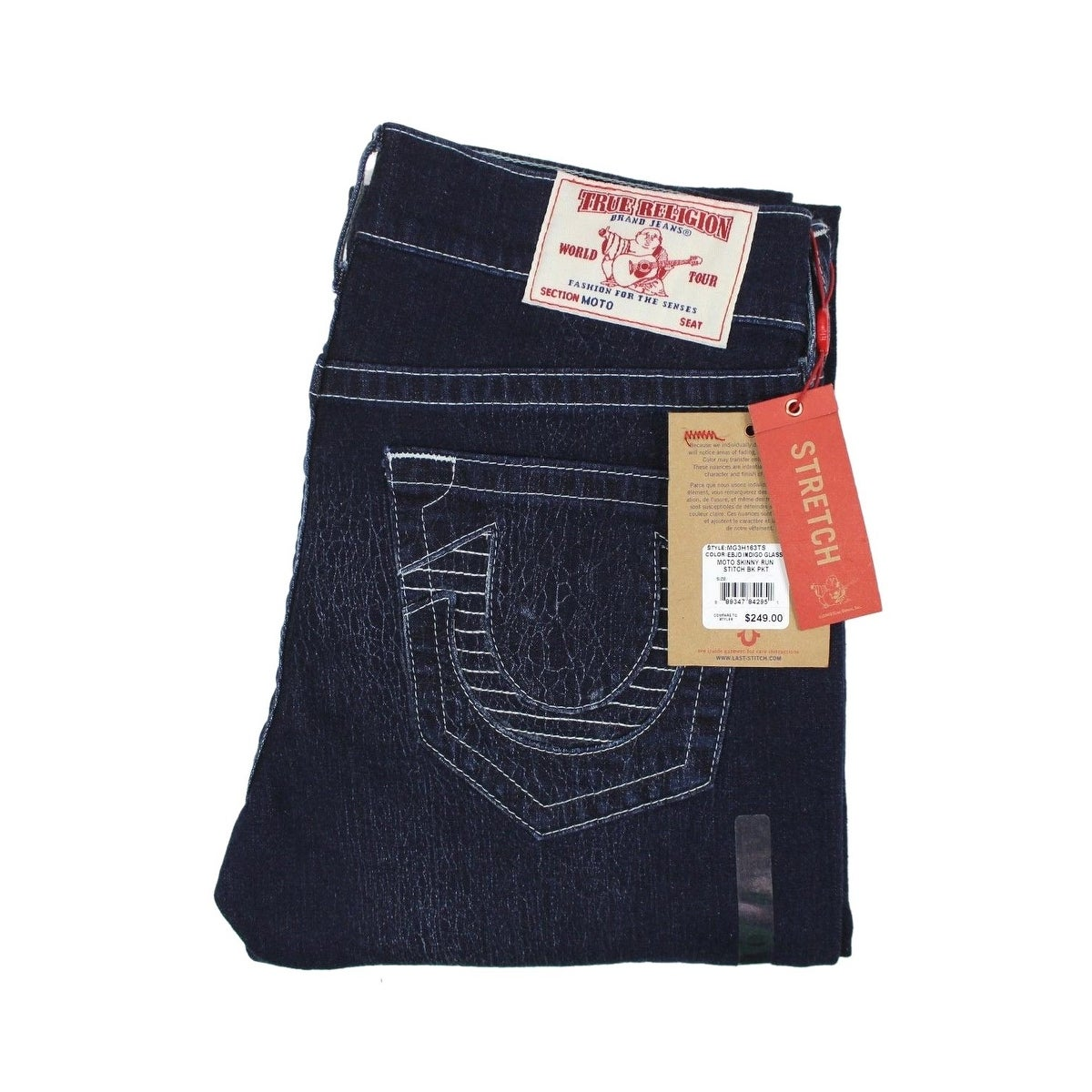 0922742d Shop True Religion Men's Skinny Fit Run Stitch Moto Jeans 34x34 Indigo  Glass - Free Shipping Today - Overstock - 23581772