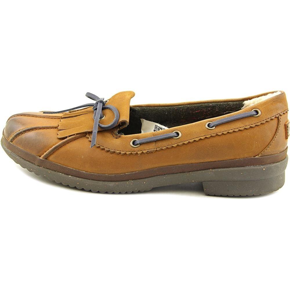 ec8db4e3703 Ugg Australia Haylie Women Moc Toe Leather Brown Boat Shoe