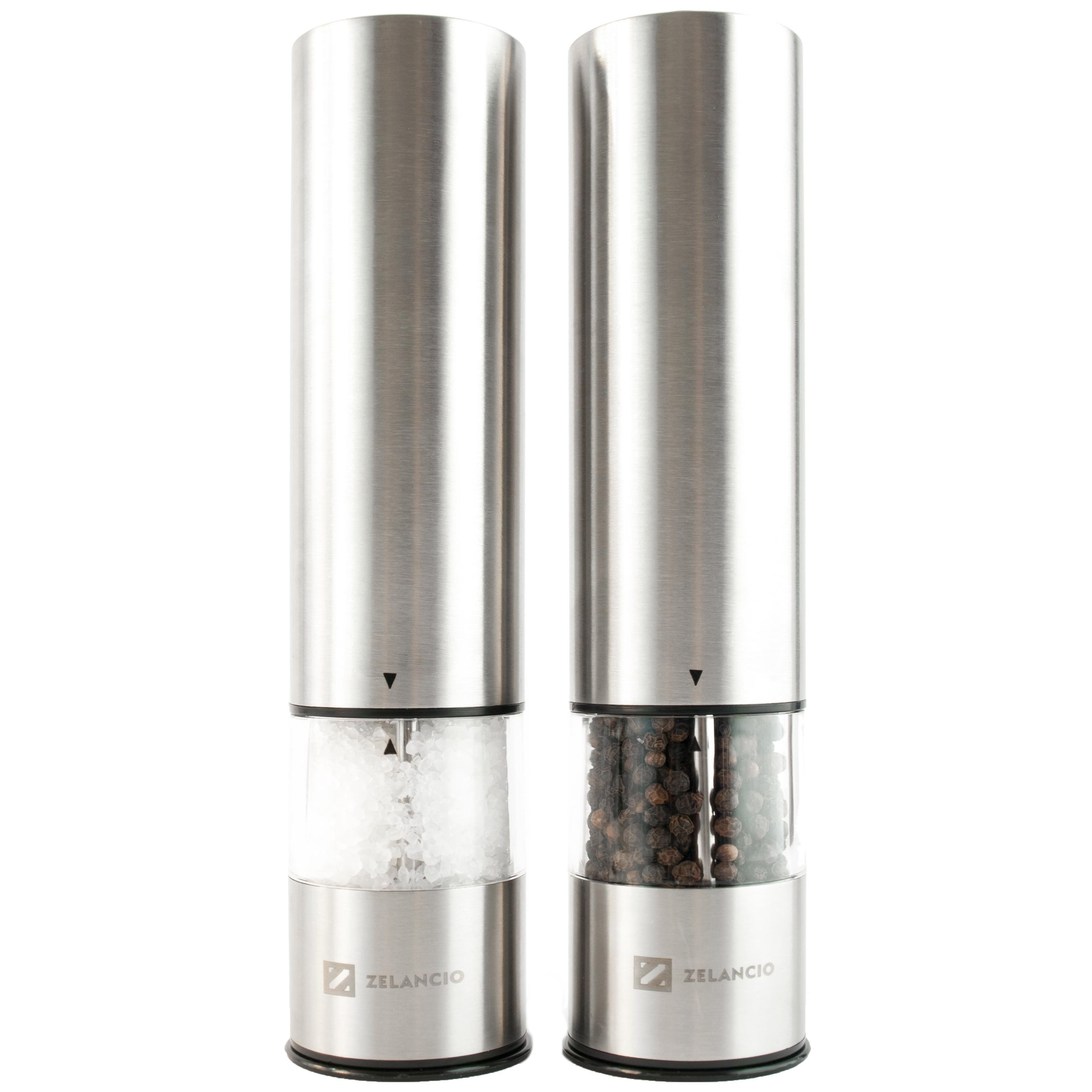 Zelancio Electric Salt and Pepper or Spice Grinder Set   Battery Powered  One Touch Grind Set of 2 Mills - Free Shipping On Orders Over $45 -  Overstock.com - ...