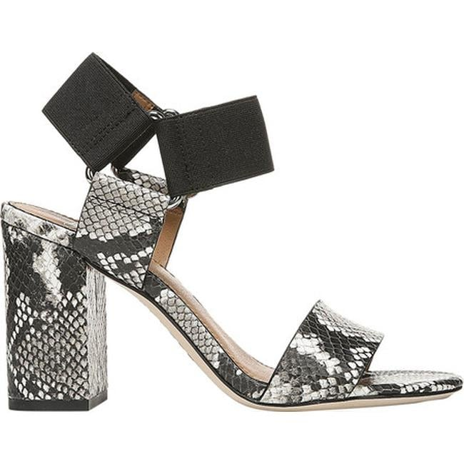 678c35854d51 Shop Sarto by Franco Sarto Women's Olivia Ankle Strap Sandal Natural/Black  Shiny Snake Print Leather - On Sale - Free Shipping Today - Overstock -  27347510