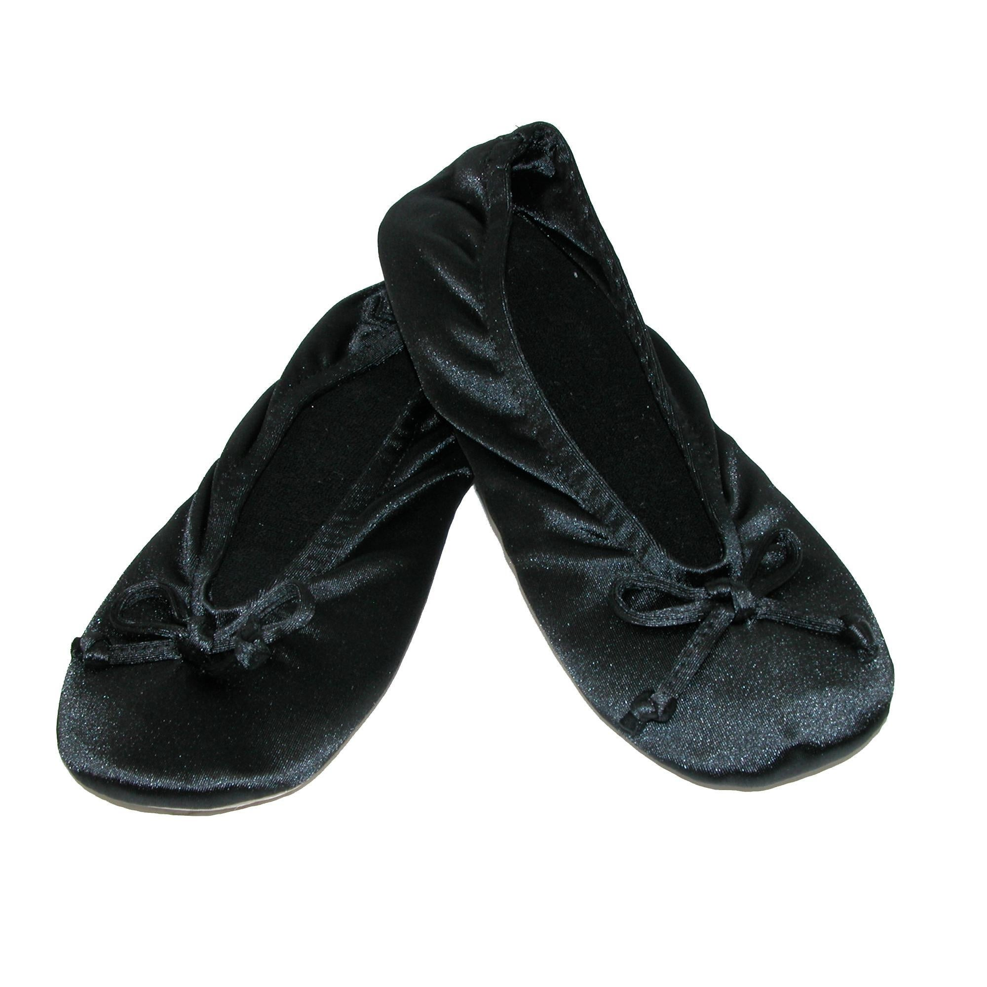 eee6754d491 Shop Isotoner Women s Satin Classic Ballerina Slippers - Free Shipping On  Orders Over  45 - Overstock - 14400060