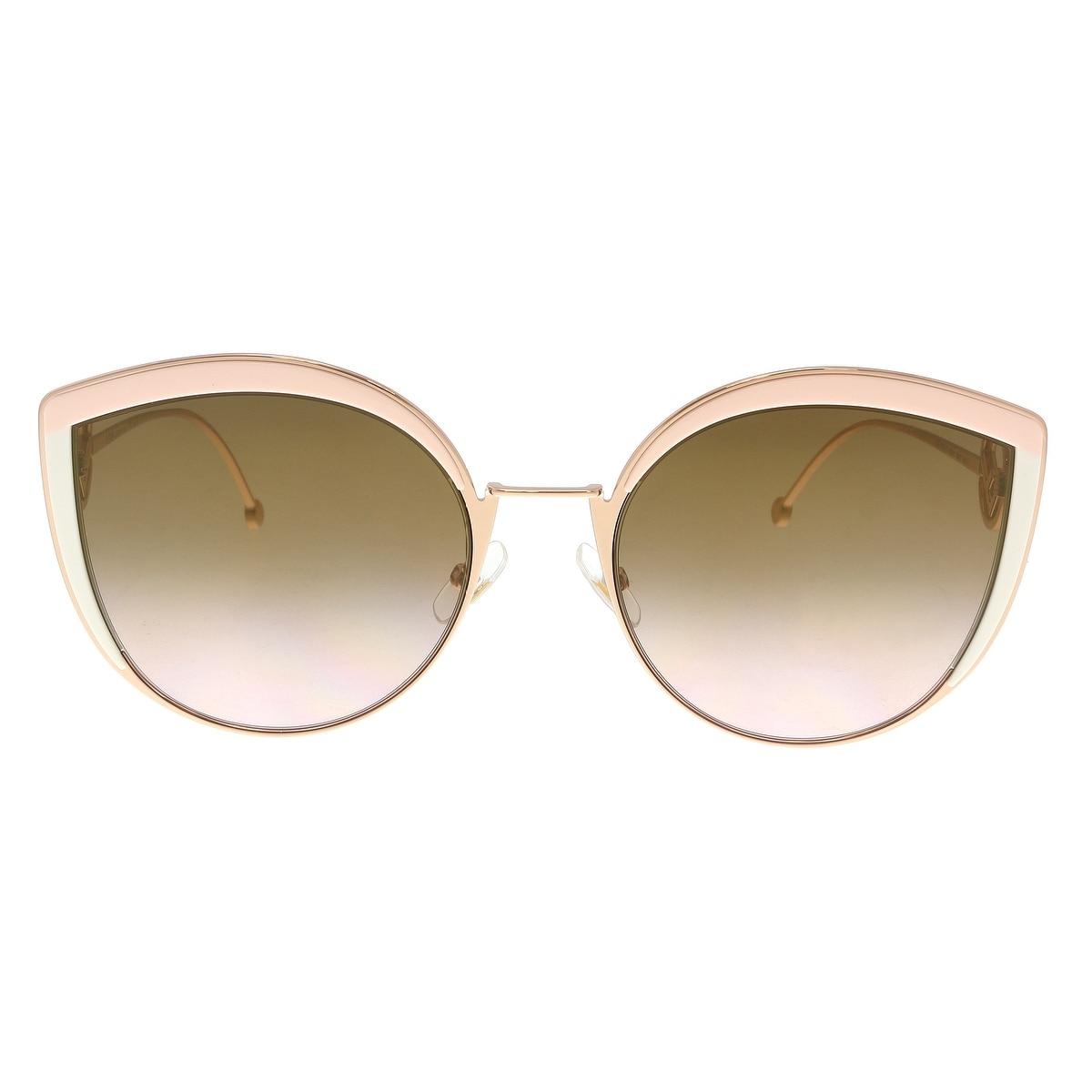 3e51565d69fe Shop FENDI 0290 S 53 035J Pink Cateye Sunglasses - 58-21-140 - Ships To  Canada - Overstock - 22818038