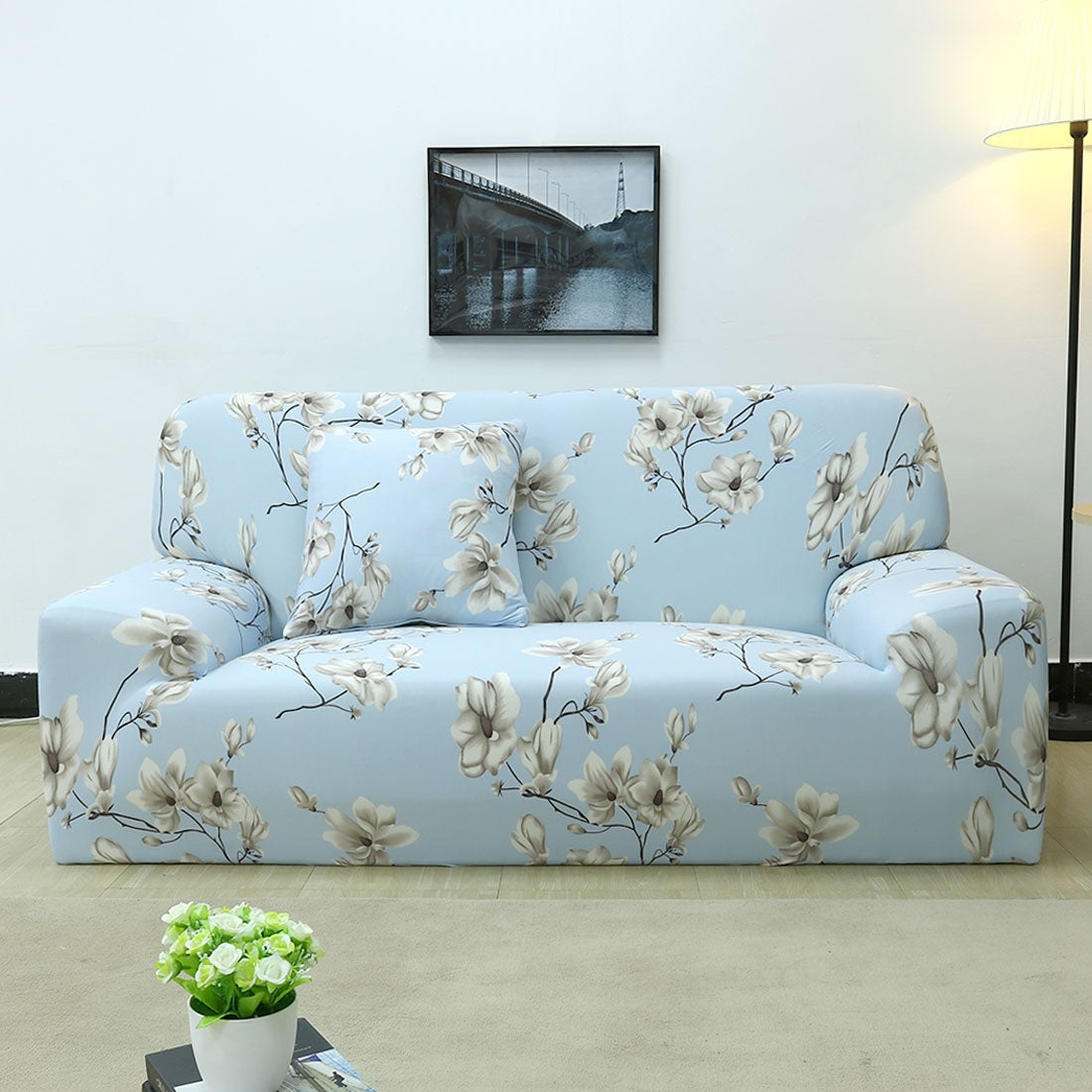 Shop Unique Bargains Polyester Stretch Sofa Slipcovers 74 X 90 Inch