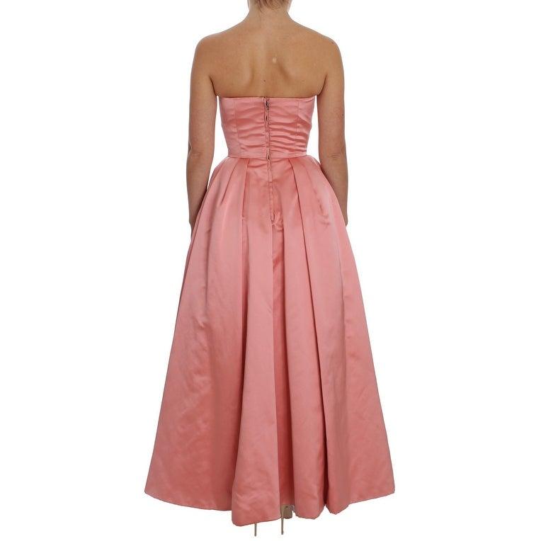 38a6a582f737 Dolce & Gabbana Pink Silk Ball Gown Full Length Women's Dress - it36-xs