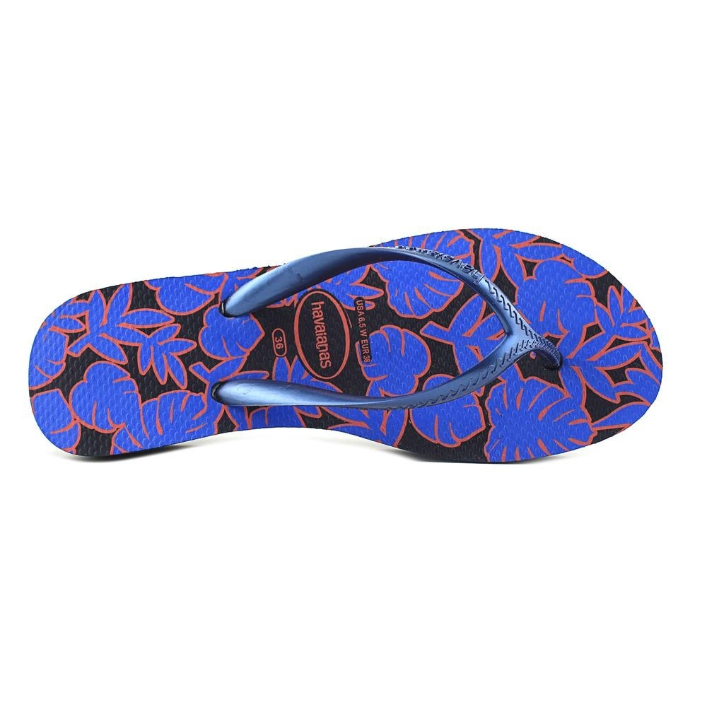 e4125c6b68a93d Shop Havaianas Highlight II Women Open Toe Synthetic Blue Flip Flop Sandal  - Free Shipping On Orders Over  45 - Overstock - 18955668