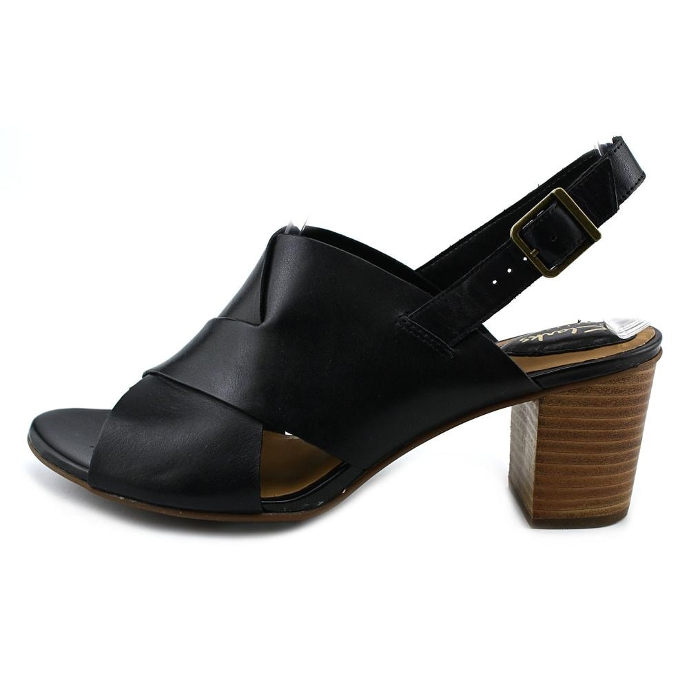94ef73312 Shop Clarks Artisan Ralene Vive Women Open-Toe Leather Black Slingback  Sandal - Free Shipping On Orders Over  45 - Overstock - 16307425