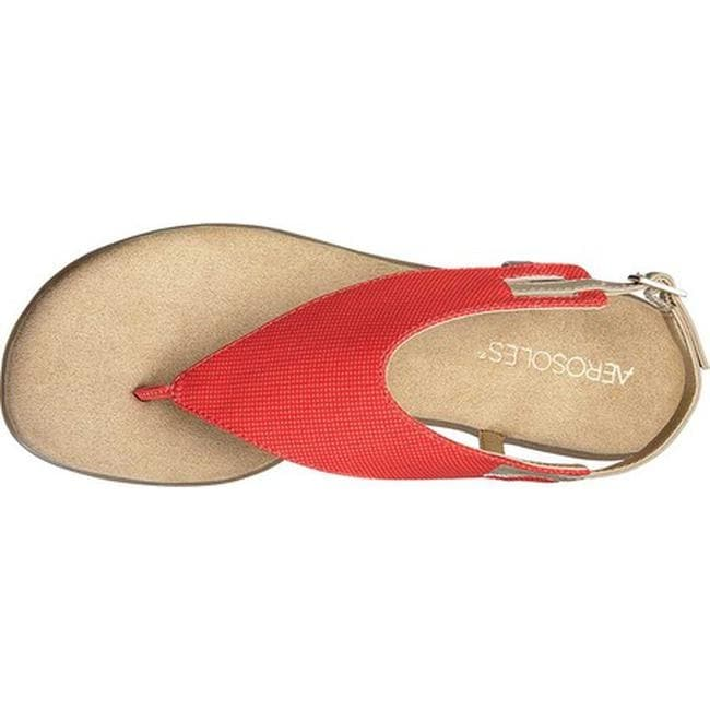 ee8215b9e5a Shop Aerosoles Women s Chlose Friend Thong Sandal Red Faux Leather - Free  Shipping On Orders Over  45 - Overstock - 21691729