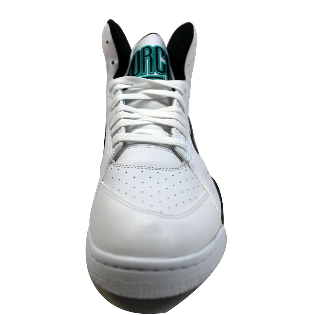 d12121db98 Shop Nike Men's Air Force 180 Mid White/Black-Wolf Grey-Blue Emerald 537330- 100 - Free Shipping Today - Overstock - 19576594