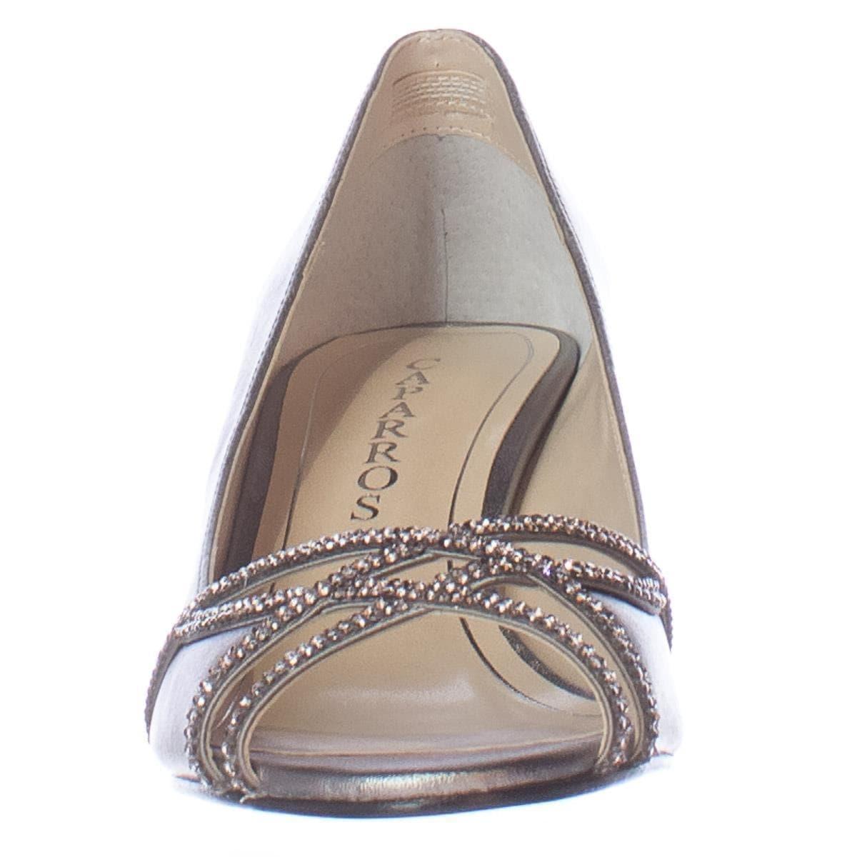 2077feeda1a Shop Caparros Eliza Sparkle Peep Toe Dress Heels