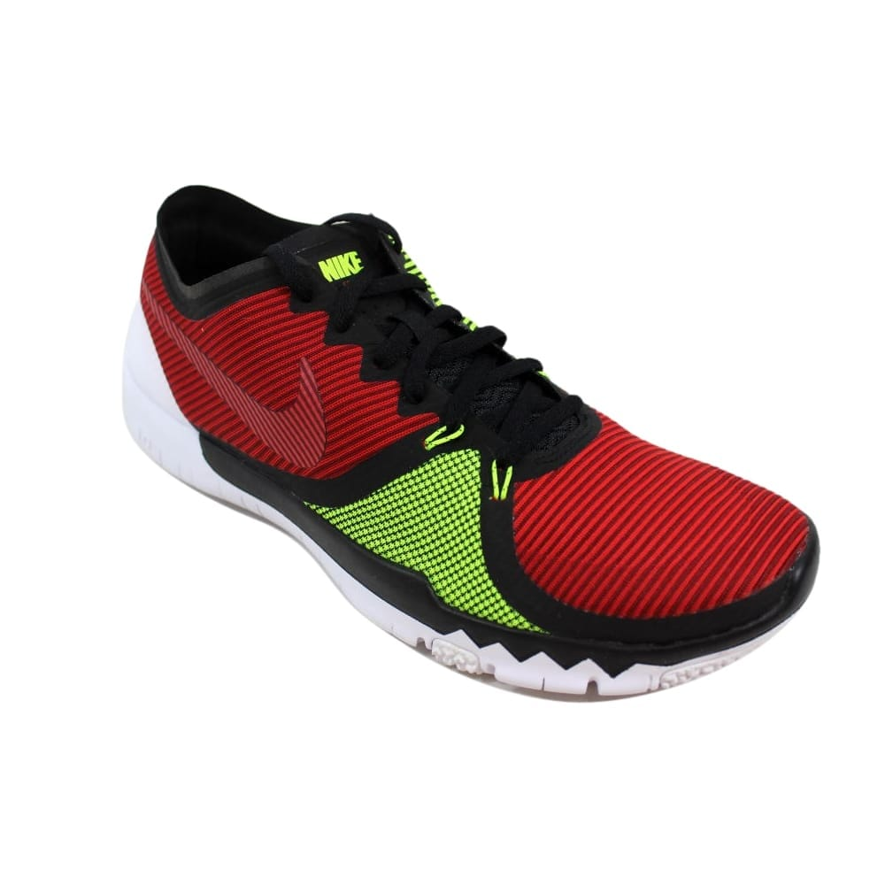 online store cb3c4 cf137 Shop Nike Free Trainer 3.0 V4 Black Team Red-University Red-Volt 749361-066  Men s - On Sale - Free Shipping Today - Overstock - 27339864