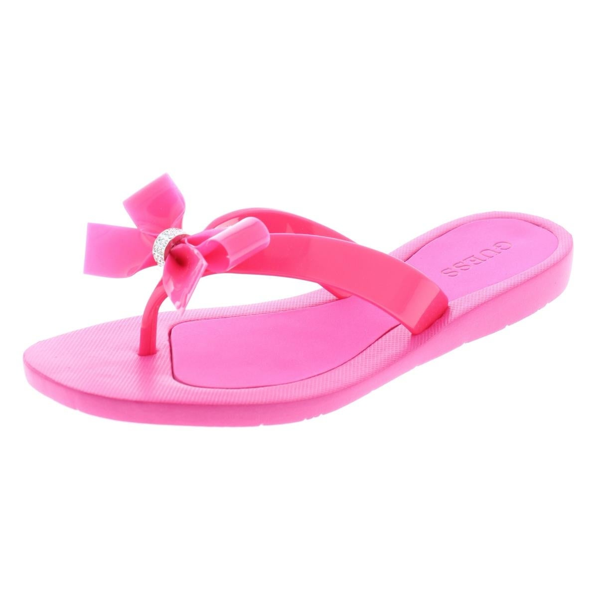 dcfdec7c122b75 Shop Guess Womens Tutu Flip-Flops Bow Thong - Free Shipping On Orders Over   45 - - 25441822