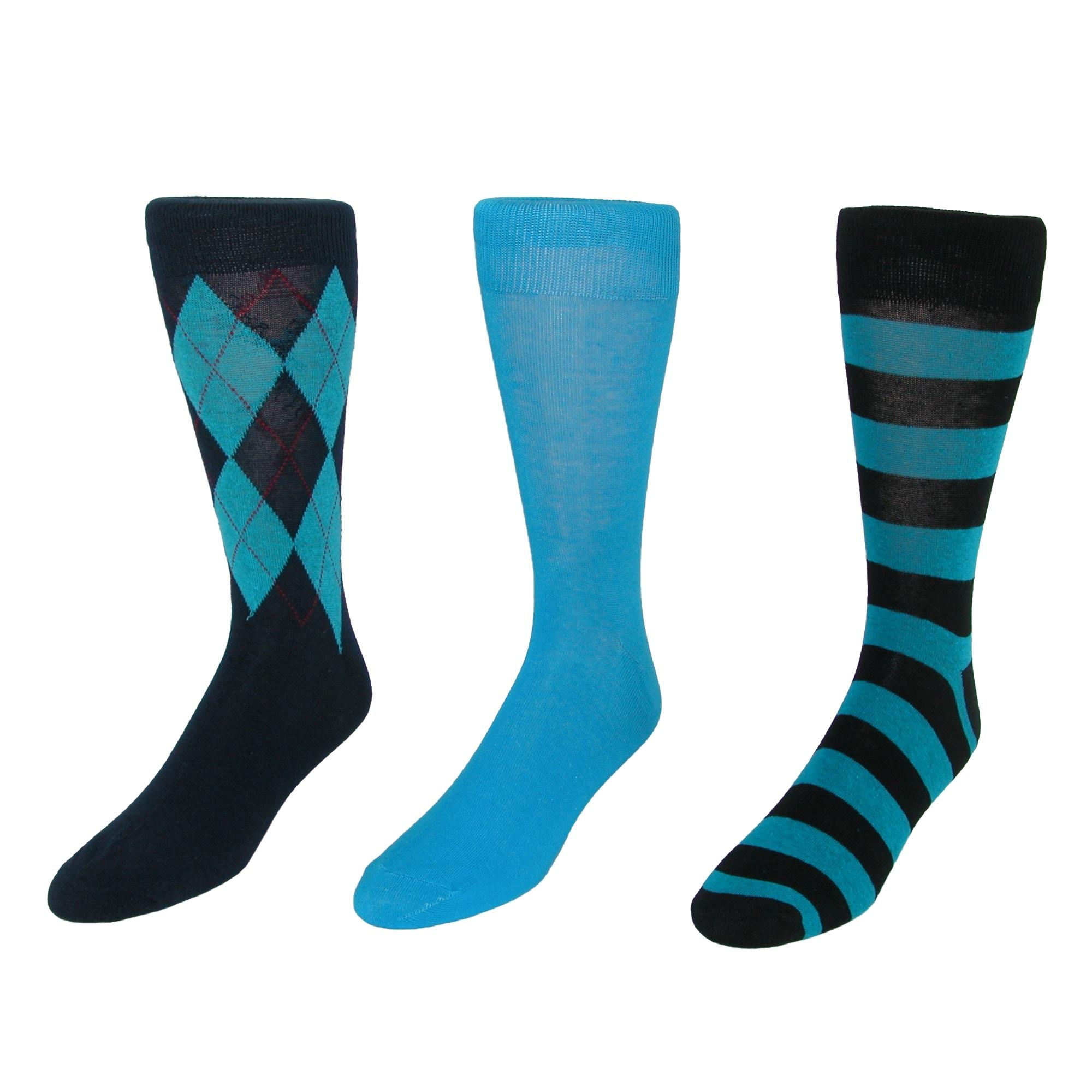 Parquet Men's Dress Sock Gift Box Set (3 Pair Pack)