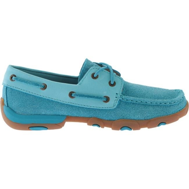 3545d36cb843 Shop Twisted X Boots Women's WDM0039 Driving Moc Ocean Blue Leather - Free  Shipping Today - Overstock - 17034863